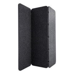 Lumeah Concertina Foldable Sound Reducing Room Divider Privacy Screen, 70 x 1 x 70, Polyester, Ash