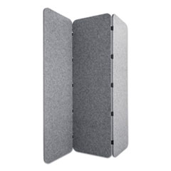 Lumeah Concertina Foldable Sound Reducing Room Divider Privacy Screen, 70 x 1 x 70, Polyester, Gray