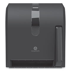 Georgia Pacific® Hygienic Push-Paddle Roll Towel Dispenser, 13 x 10 x 14.4, Black