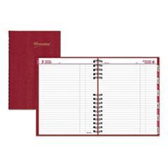 Brownline® CoilPro Daily Planner, Ruled, 1 Page/Day, 10 x 7.88, Red, 2021