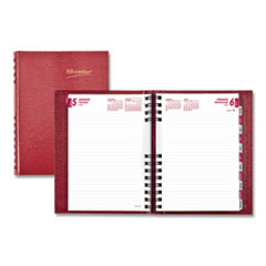 Brownline® CoilPro Daily Planner, Ruled 1 Day/Page, 8.25 x 5.75, Red, 2021