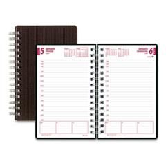Brownline® DuraFlex Daily Planner, 8 x 5, Black, 2022