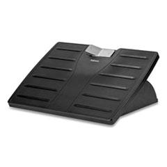 Fellowes® Adjustable 3-Height Footrest,Tilt Lock,17-1/2w x 13-1/8d x 4-3/8h, Black/Silver
