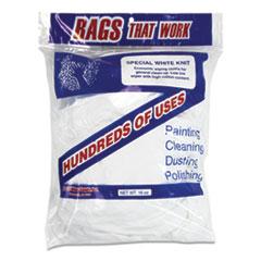 Monarch Brands® Cotton Rags, White, 10/Carton