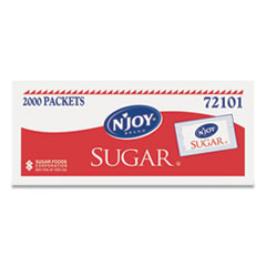 N'Joy Sugar Packets, 0.1 oz, 2,000 Packets/Box