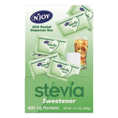 N'Joy Stevia Artificial Sweetener, 0.4 oz. 400 Packets/Box