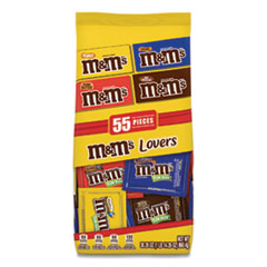 M & M's® Fun Size Variety Mix, Caramel, Milk Chocolate, Peanut, Peanut Butter Flavors, 30.35 oz Bag, 55 Packs/Bag