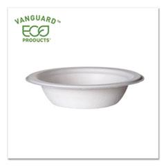 Eco-Products® Vanguard Renewable and Compostable Sugarcane Bowls, 12 oz, White, 1,000/Carton
