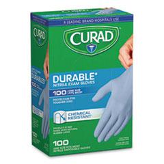 Curad® Powder-Free Nitrile Exam Gloves, One Size, Blue, 100/Box