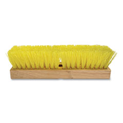 "O'Dell® Deck Brush, 10"" Brush, Tan Hardwood Handle"