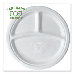 Eco-Products® Vanguard Renewable and Compostable Sugarcane Plates