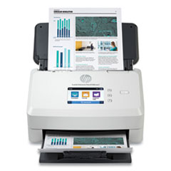 HP ScanJet Enterprise Flow N7000 snw1 Sheet-Feed Scanner, 600 dpi Optical Resolution, 80-Sheet Duplex Auto Document Feeder