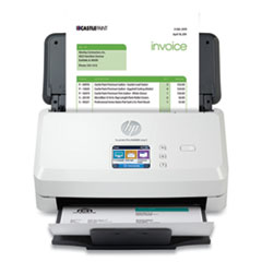 HP ScanJet Pro N4000 snw1 Sheet-Feed Scanner, 600 dpi Optical Resolution, 50-Sheet Duplex Auto Document Feeder