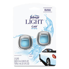 Febreze® CAR Air Freshener, Sea Spray, 2 mL Clip, 2/Pack, 8 Packs/Carton
