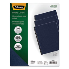 Fellowes® Expressions™ Linen Texture Presentation Covers for Binding Systems