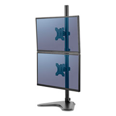 """Fellowes® Professional Series Freestanding Dual Stacking Monitor Arm, For 32"""" Monitors, 15.3"""" x 35.5"""" x 11"""", Black, Supports 17 lb"""