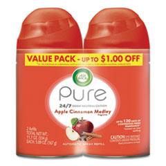 Air Wick® Freshmatic Ultra Spray Refill, Apple Cinnamon Medley, Aerosol, 5.89 oz, 2/Pack, 3 Packs/Carton