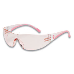 Bouton® Eva Optical Safety Glasses, Anti-Scratch, Pink Lens, Pink/Clear Frame