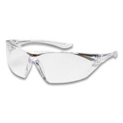 Bouton® Bullseye Rimless Safety Glasses, Anti-Fog, Anti-Scratch, Clear Lens, Clear Frame