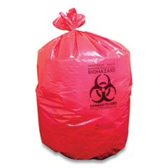 Coastwide Professional™ Biohazard Can Liners, 45 gal, 40 x 46, Red, 200/Carton