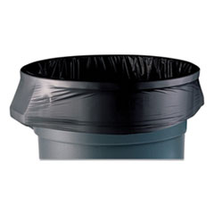 """Coastwide Professional™ AccuFit Linear Low-Density Can Liners, 55 gal, 1.3 mil, 40"""" x 53"""", Black, 100/Carton"""