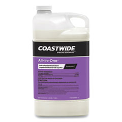 Coastwide Professional™ All-in-One Multi-Surface Disinfectant Cleaner Concentrate for ExpressMix Systems, Unscented, 3.25 L Bottle, 2/Carton