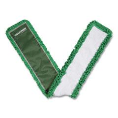 Coastwide Professional™ Looped-End Dust Mop Head, Microfiber, 48 x 5, Green