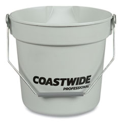 Coastwide Professional™ Plastic Bucket, 10 qt, Gray