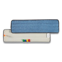 Coastwide Professional™ Microfiber Wet Mop Pad, Economy, 5 x 18, Blue