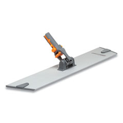 "Coastwide Professional™ Wet/Dry Microfiber Mop Frame, 15.75"" x 3.15"", Aluminum/Plastic, Gray/Orange"