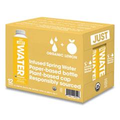 Just Water Infused Spring Water, Lemon, 16.9 oz Bottle, 12/Carton