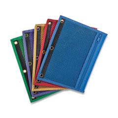Centis® Mesh Binder Pockets, 10.5 x 7.5, Assorted Colors