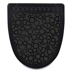 Fresh Products P-Shield Urinal Safety Mat, Wedge, 22.63 x 22.25, Black, 6/Carton