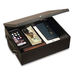 Honeywell Large Cash Management Box, Keylock, 11 x 14.3 x 4.3, Steel, Black