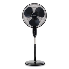 "Honeywell Comfort Control Stand Fan, 16"", 3 Speeds, Black"
