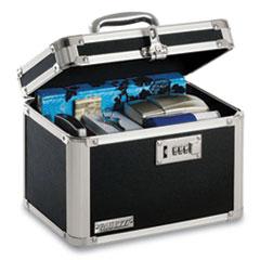 Vaultz® Latching Lid Locking Personal Security Box, Combination Lock, 10 x 7.5 x 7.75, Plastic; Steel; Aluminum, Black