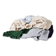 Monarch Brands® Reclaimed Color T-Shirt Rags, Assorted, 125/Box