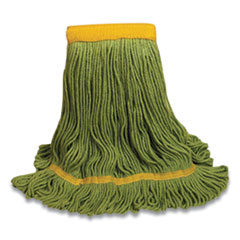 "O'Dell® 1400 Series Mop Head, Cotton/Rayon/Synthetic Blend, Medium, 5"" Headband, Green"