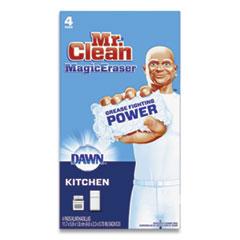 "Mr. Clean® Magic Eraser Kitchen Scrubber, 4.6"" x 2.3"", White, 4 Scrubbers"