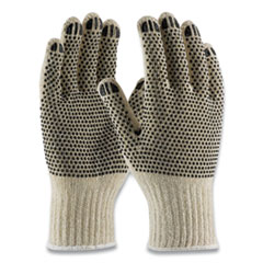 PIP PVC-Dotted Cotton/Polyester Work Gloves, Small, Gray/Black, 12 Pairs