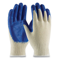 PIP Seamless Knit Cotton/Polyester Gloves, Regular Grade, Small, White/Blue, 12 Pairs