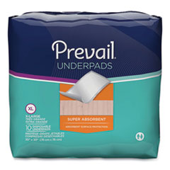 Prevail® Underpads, 30 x 30, White, 100/Carton