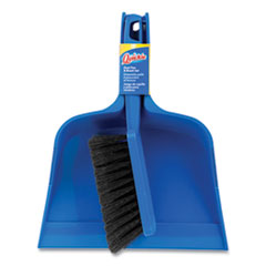 Quickie® Bulldozer Brush and Dust Pan Set, 10 x 12, Plastic, Blue