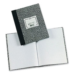 National® Composition Notebook, Quadrille Rule, Green Marble Cover, 7.88 x 10.13, 60 Sheets