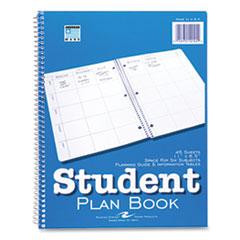 Roaring Spring® Student Plan Book, 11 x 8.5, Blue/White