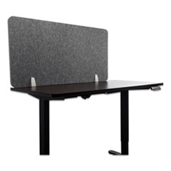 Lumeah Desk Screen Cubicle Panel and Office Partition Privacy Screen, 47 x 1 x 23.5, Polyester, Gray