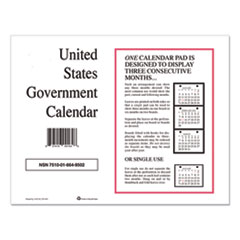 7510016649502 Monthly Wall Calendar, 9 x 11, 2021, 10/Pack