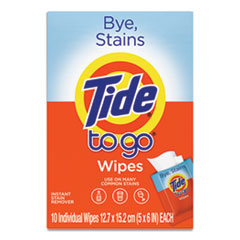 Tide® To Go Instant Stain Remover Wipes, 6 x 5, Scented, 10/Box, 12 Boxes/Carton