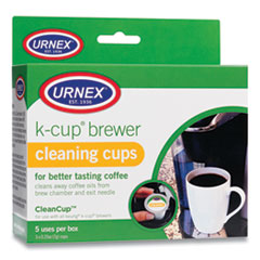 Urnex® CleanCup Coffee Pod Brewer Cleaning Cups, 0.25 oz Cup, 5/Pack
