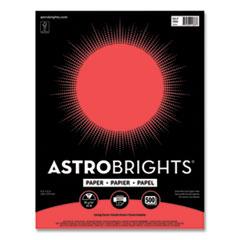 Astrobrights® Color Paper, 24 lb, 8.5 x 11, Living Coral, 500/Ream